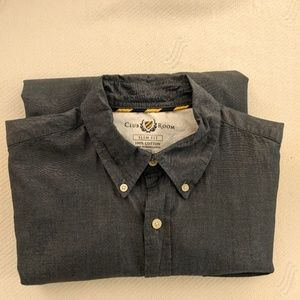 NWOT Club Room - Slim Fit Dark Gray Dress Shirt